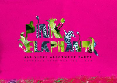 Pink Elaphant: Saturday 20th May, 4pm til 3am, at TROPICS, Grow Elephant, London SE17 1SL.