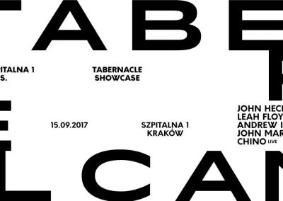 Szpitalna 1 presents Tabernacle Records Showcase, Friday 15th September, 10pm-7am, Szpitalna 1, 31-027 Kraków, Poland.