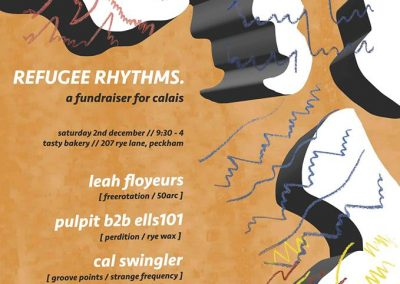 Refugee Rhythms, Saturday 2nd December 2017, 9.30pm-4am.