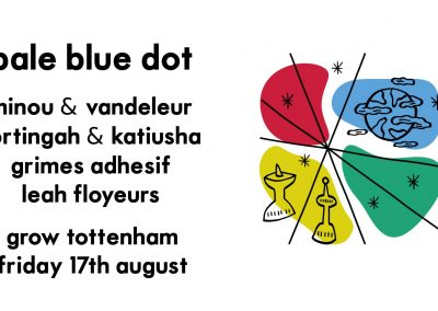 Pale Blue Dot, Friday 17th August 2018, 8pm - 5am, Grow Tottenham, Ashley House, London N17 9LZ .